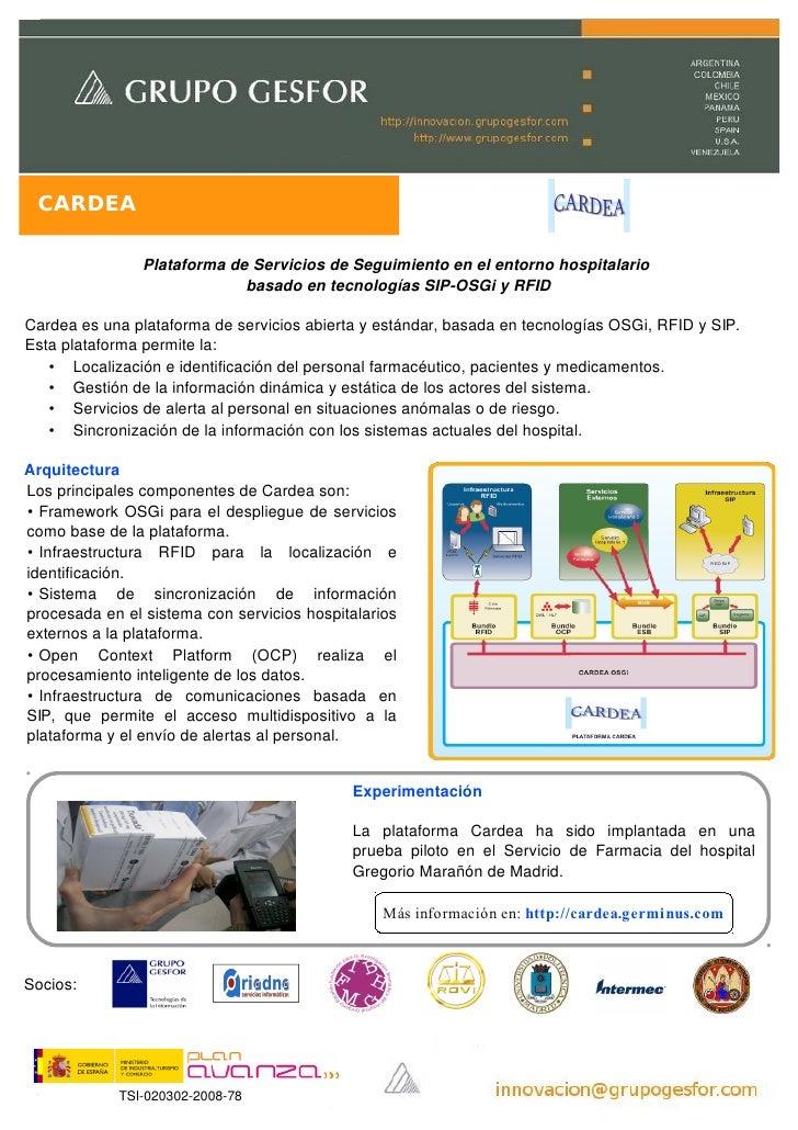 CARDEA                  Plataforma de Servicios de Seguimiento en el entorno hospitalario                              bas...