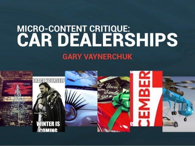 Car Dealership Micro-Content Critiques