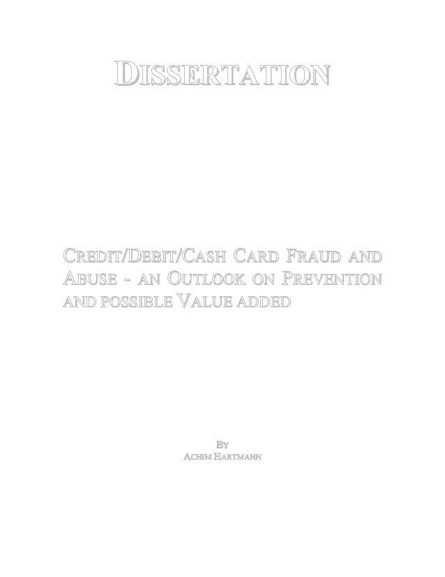 dissertation credit cards