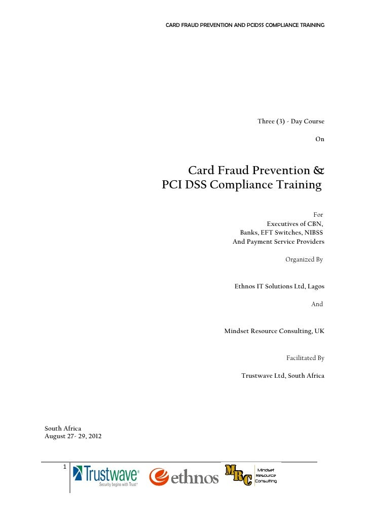 Card fraud and compliance training