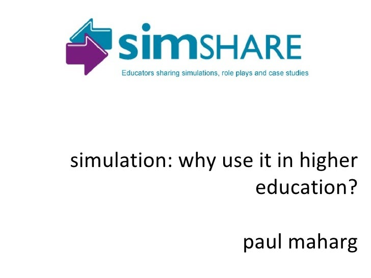Paul Maharg Glasgow Graduate School of Law simulation: why use it in higher education? paul maharg