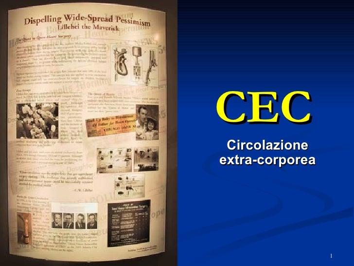 CEC Circolazione extra-corporea