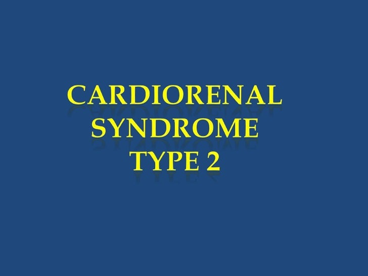 cardio renal syndrome classification essay