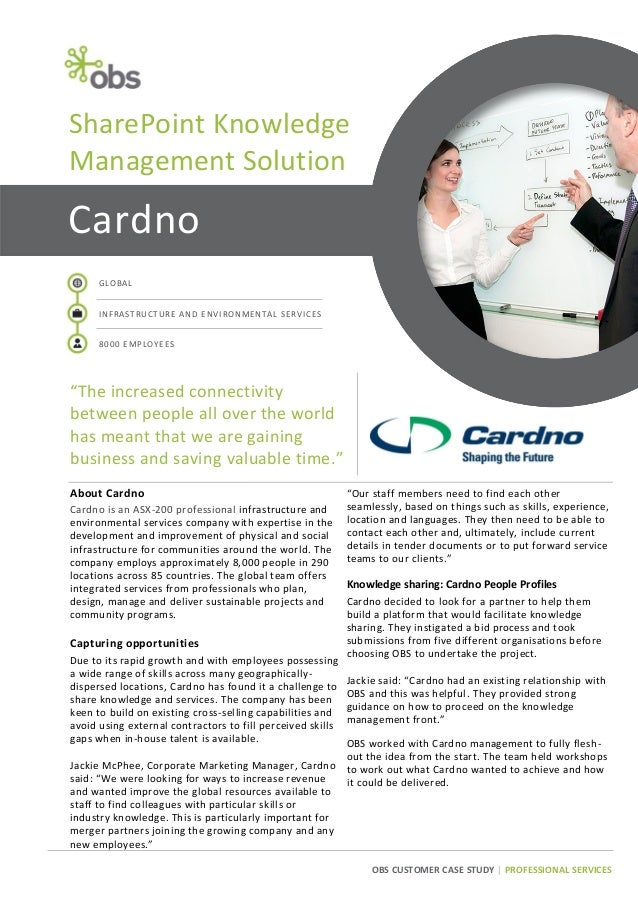 Cardno Case Study