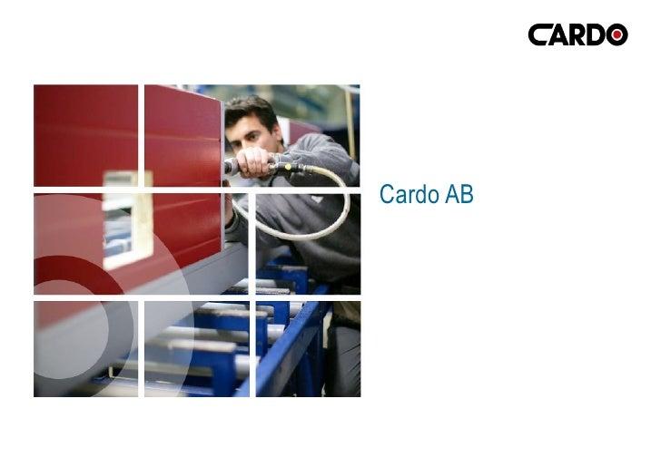 Cardo Group Presentation