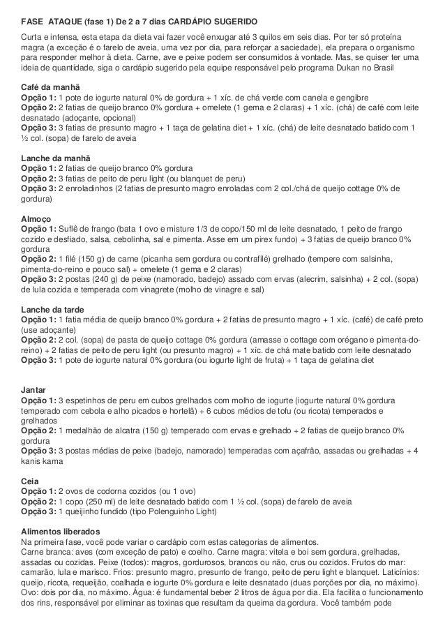 Card pios sugeridos dieta dukan - Dieta dukan alimentos prohibidos ...