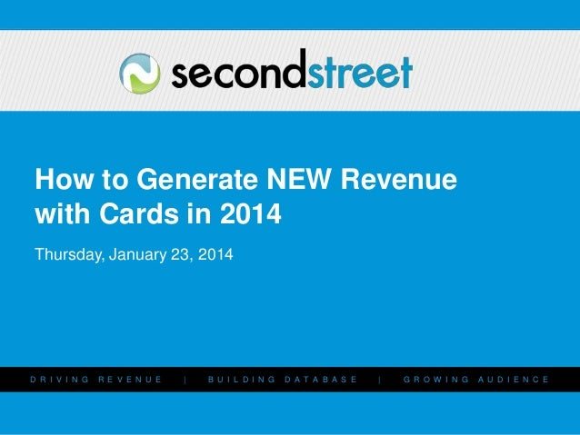 How to Add a NEW Revenue Stream with Cards