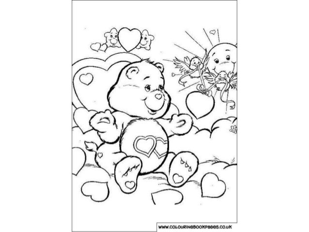 Care bears Colouring Pages and Kids Colouring Activities