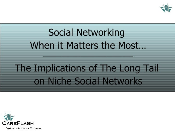 Social Networking  When it Matters the Most… __________________________________ The Implications of The Long Tail  on Nich...