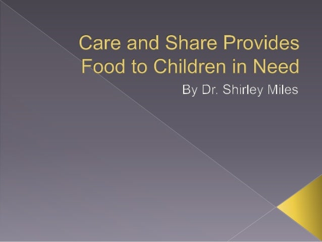 Care and Share Provides Food to Children in Need