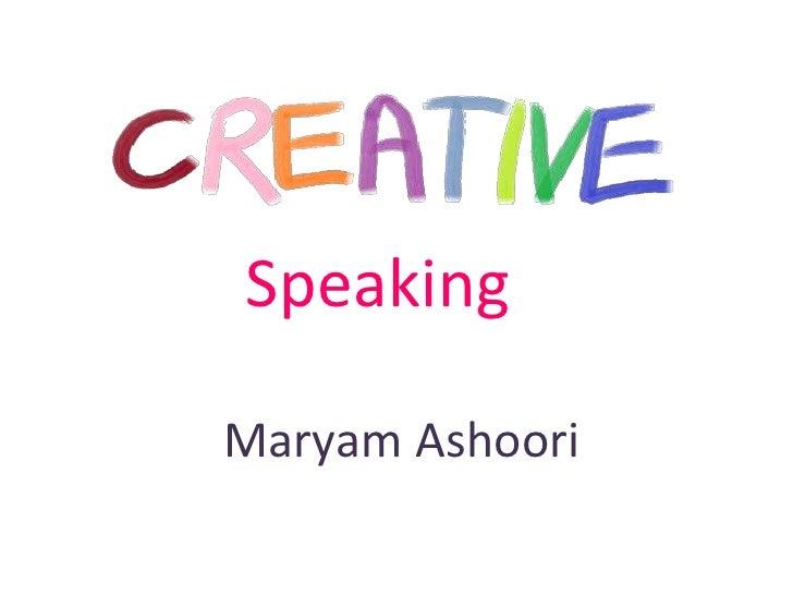 Careative speaking