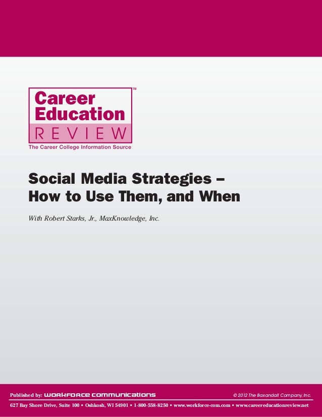 TM       Social Media Strategies –       How to Use Them, and When       With Robert Starks, Jr., MaxKnowledge, Inc.Publis...
