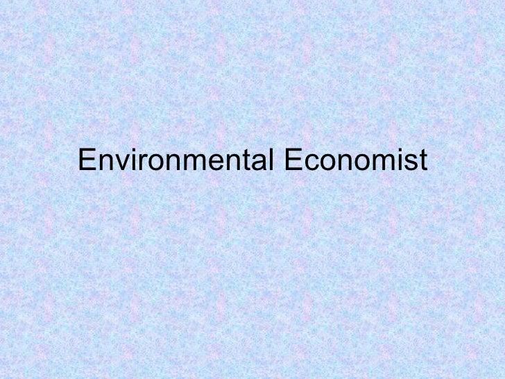 Career   Environmental Economist