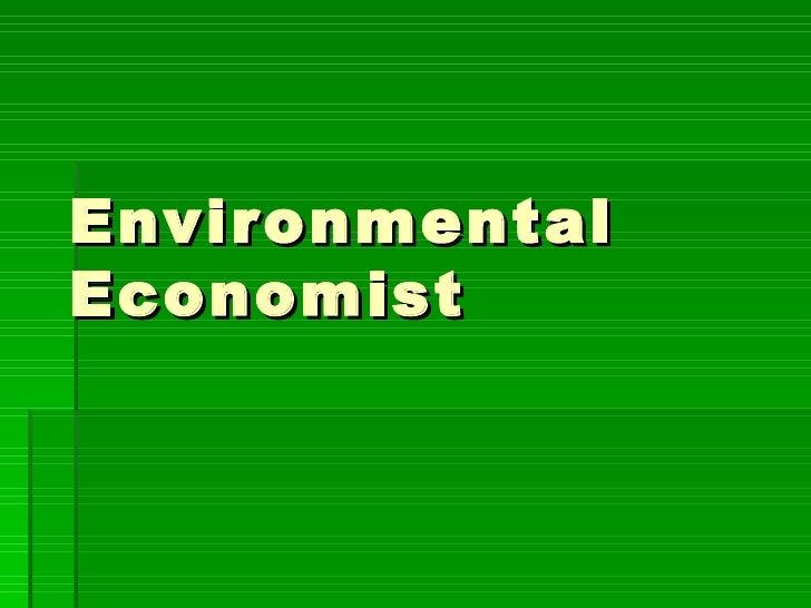 Career   Environmental Economist2