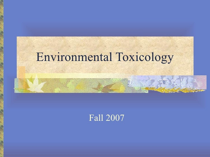 Career   Environmental Toxicologist