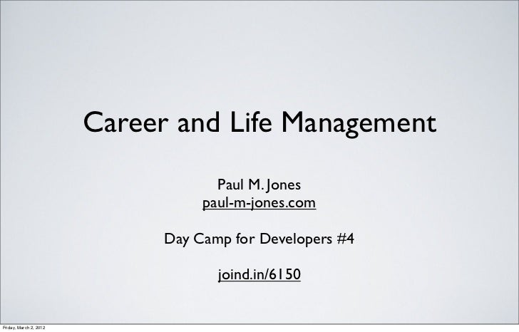 Career and Life Management