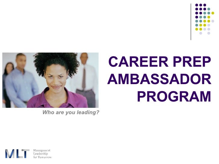 Career Prep Ambassador Program for Fellows