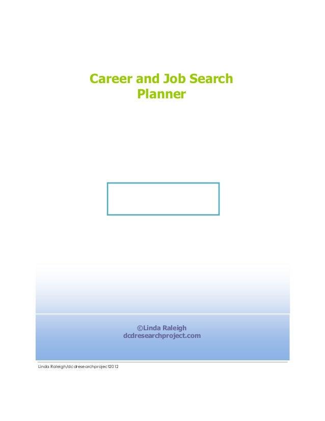 Career and Job Search                              Planner                                           ©Linda Raleigh       ...
