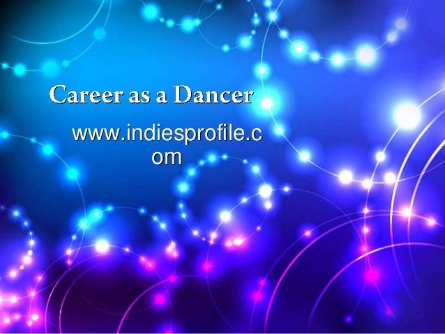 Career as a dancer