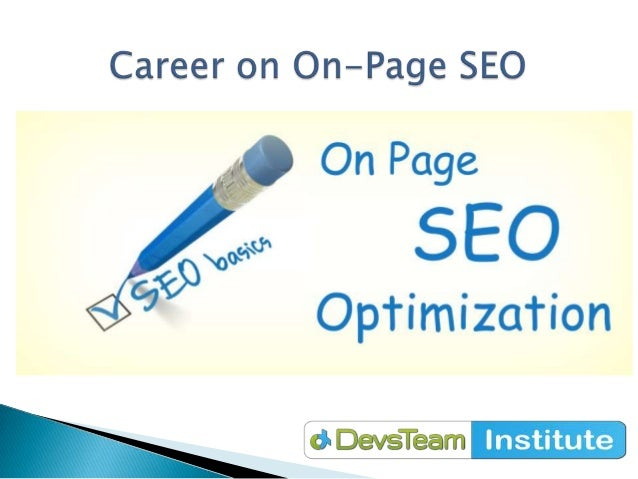Career as on page seo