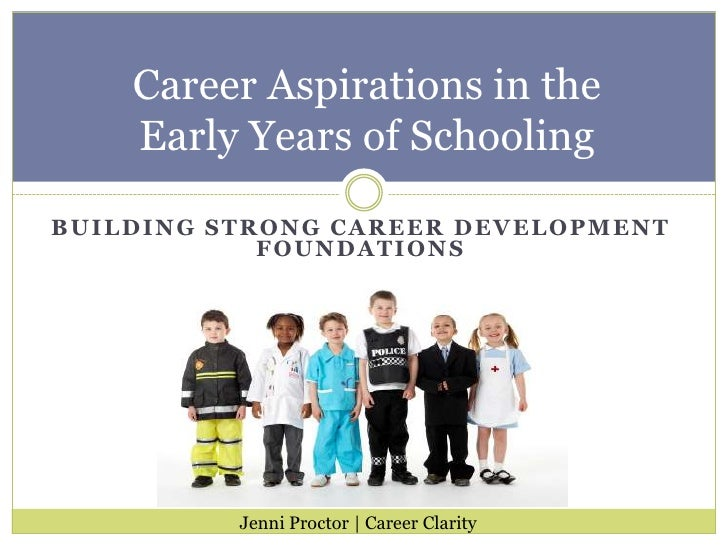 Building Strong Career Development Foundations<br />Career Aspirations in the Early Years of Schooling<br />Jenni Proctor ...