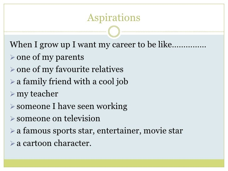 Career aspirations essay
