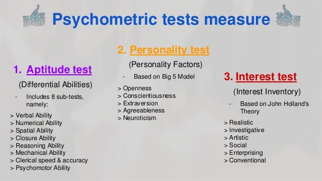 psychometric test Introduction to psychometric selection tests including personality questionnaires and aptitude tests.