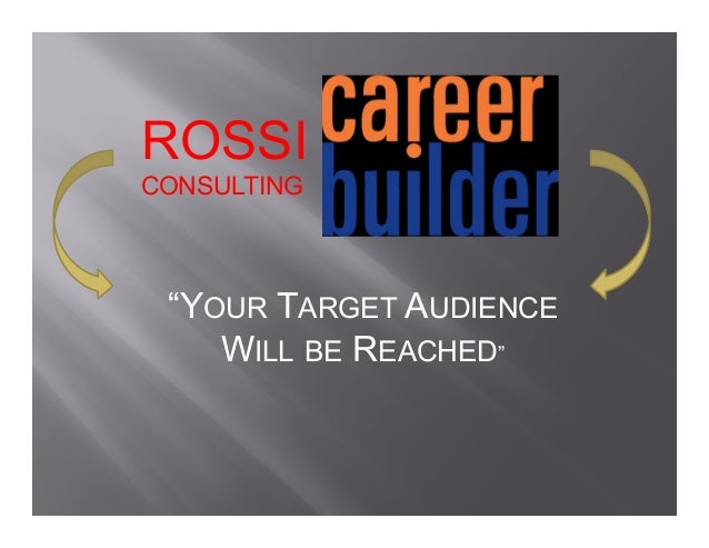 "ROSSI CONSULTING ""YOUR TARGET AUDIENCE WILL BE REACHED"""