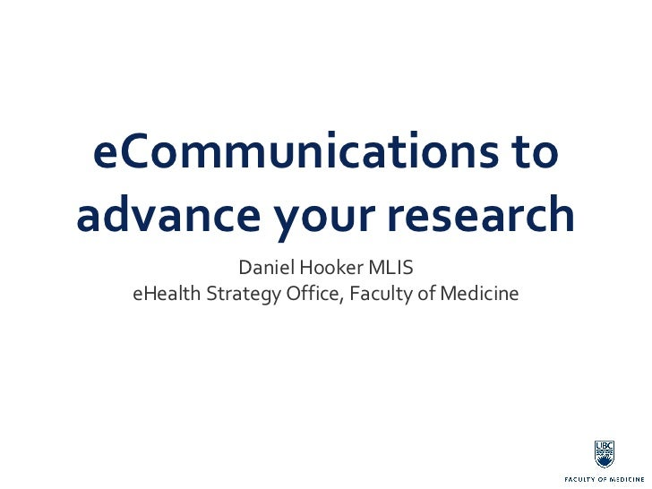Using social media to advance your research