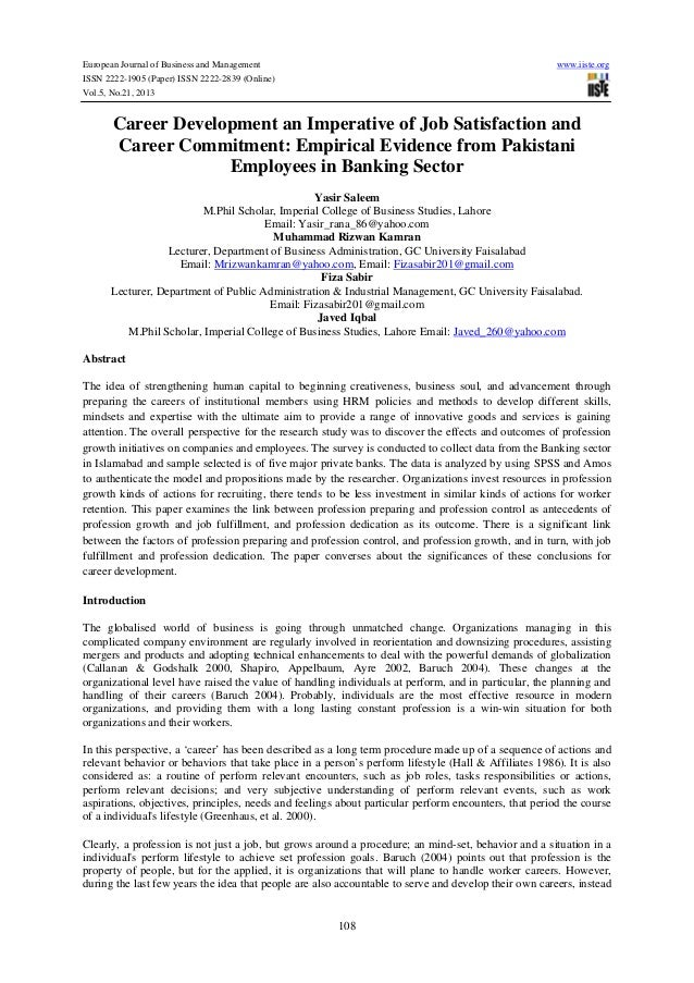 European Journal of Business and Management  www.iiste.org  ISSN 2222-1905 (Paper) ISSN 2222-2839 (Online) Vol.5, No.21, 2...
