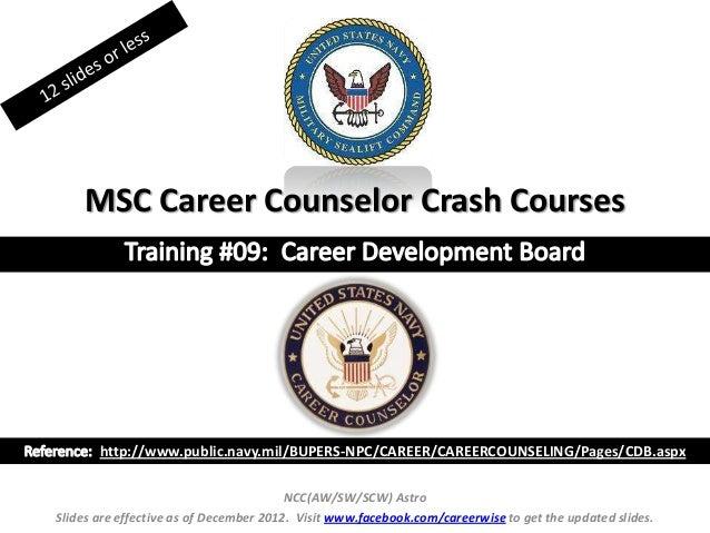 Career development board msc ccc crash course