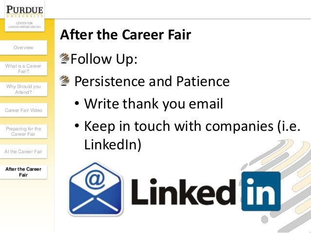 Thank You Letter After Career Fair Email Subject. Job Interview ...