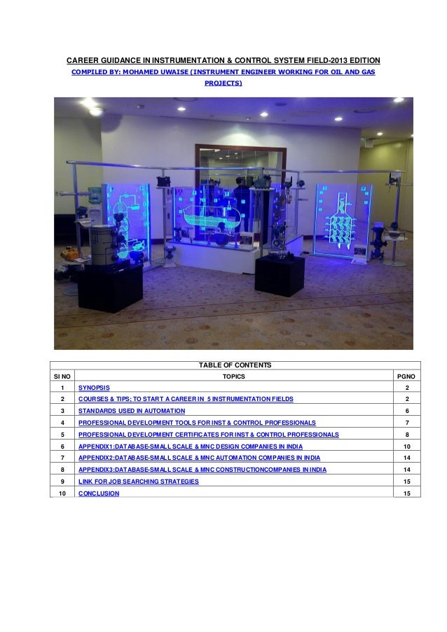 Career Guidance in Instrumentation-2013 edition