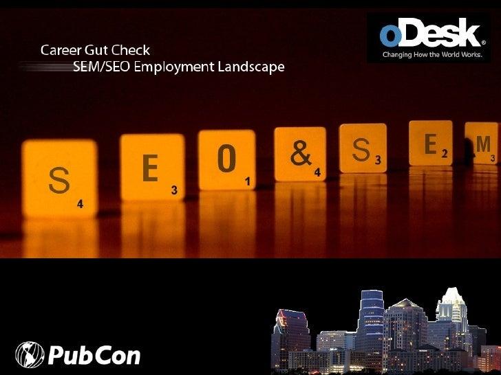 Career Gut Check: SEO/SEM Employment Landscape
