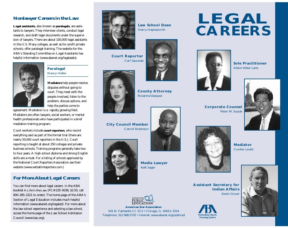 LEGAL Nonlawyer Careers in the Law                                                                                      La...
