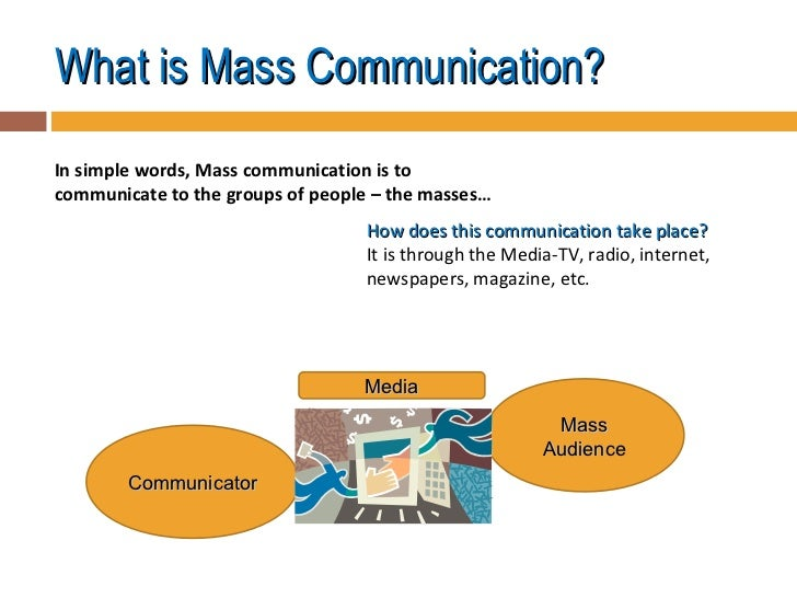 importance of mass communication Communication is the basic necessity of a social being, though its importance is often overlooked this article summarizes the significance of communication in human life.
