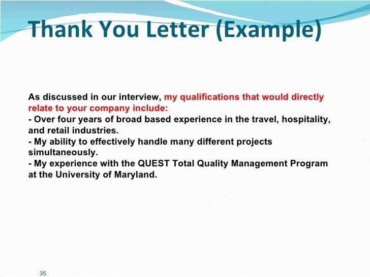 management interview presentation