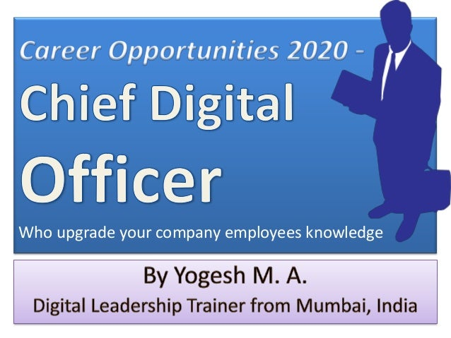 Career Opportunities 2020 - Chief Digital Officer