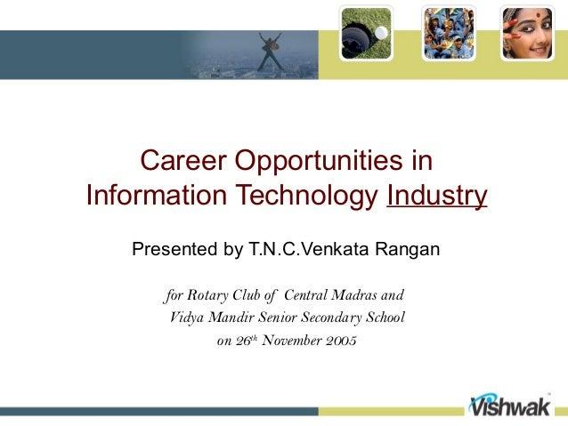 Career opportunities in indian it industry