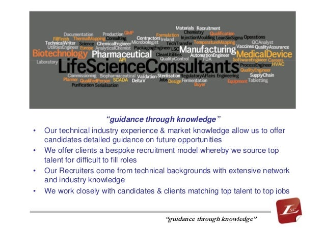 "Life Science Consultants - ""guidance through knowledge"""