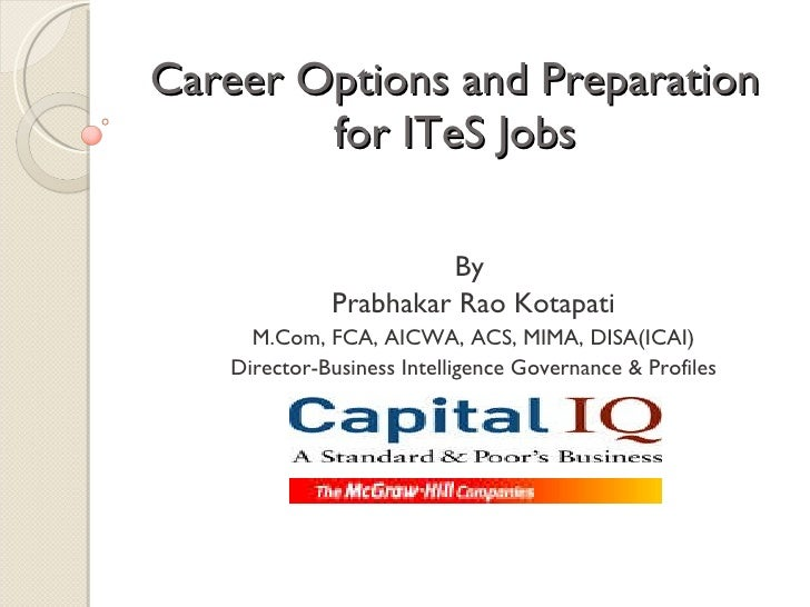 Career Options And Preparation For I Te S Jobs