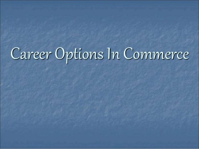 Career options in commerce