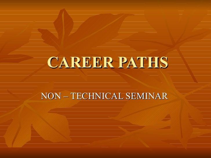 Career path non technical