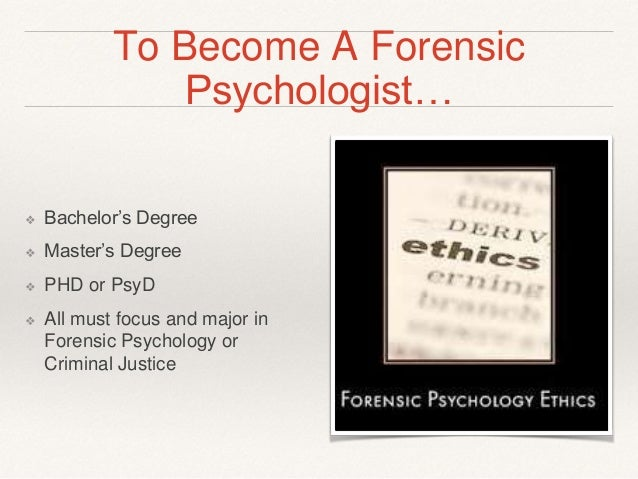 Forensic Psychology major college