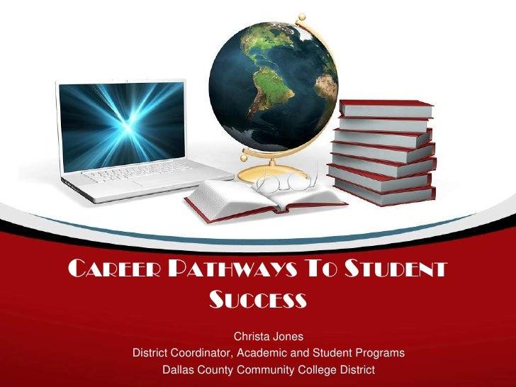 CAREER PATHWAYS TO STUDENT         SUCCESS                         Christa Jones    District Coordinator, Academic and Stu...