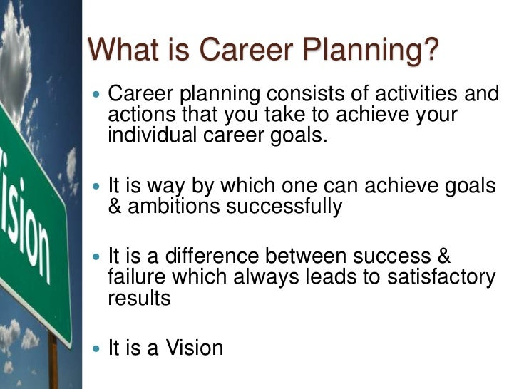 career plan activity