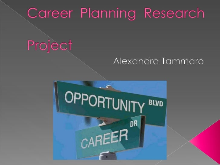 Career Planning Research						    Project<br /> Alexandra Tammaro<br />
