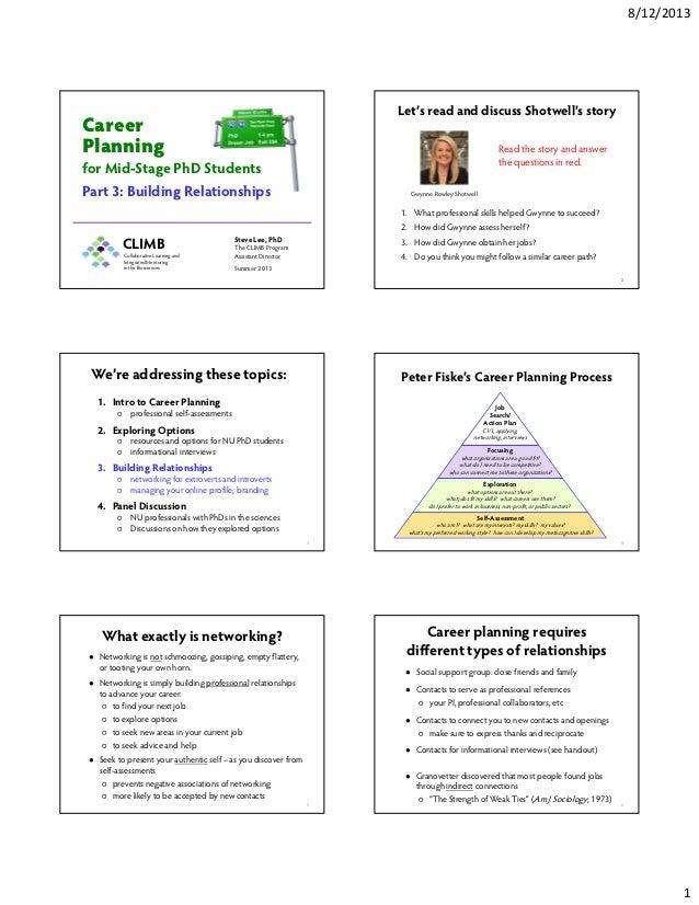Career planning 3   building relationships 2013