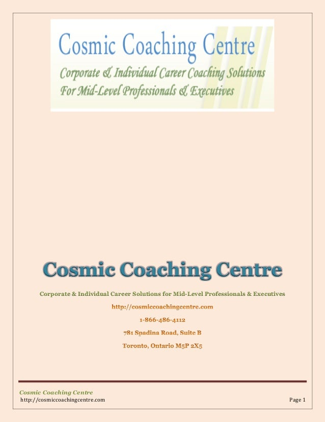 Cosmic Coaching Centre Corporate & Individual Career Solutions for Mid-Level Professionals & Executives  Cosmic Coaching C...