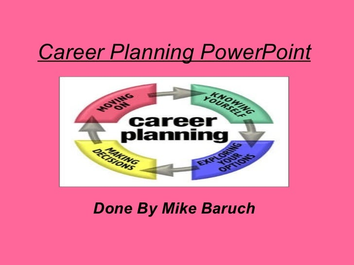 Career Planning PowerPoint Done By Mike Baruch